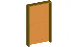 3d door design with wooden frame