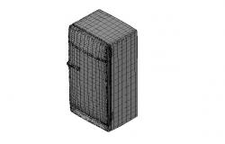 3d drawing  of  fridge dwg file