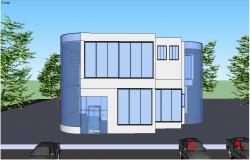 3d elevation of a building dwg file