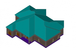 3d elevation of a house
