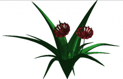 3d elevation of in-house decorative plant dwg file