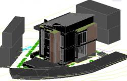 3d house dwg file