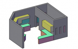 3d house in cad files