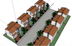 3d housing complex dwg file