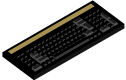 3d keyboard dwg file
