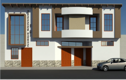 3d main elevation view details of municipality office dwg file