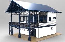 3d max dwg file of 2 stories house
