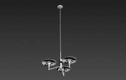 3d max file of Hanging light detail elevation 3d model