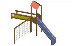 3d model design of Garden AuitoCAD Blocks