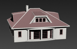 3d model of residential housing building 3d max file