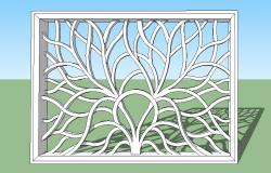 3d model of window frame design