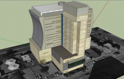 3d multi-flooring corporate building dwg file