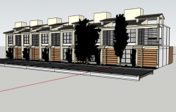 3d prototype housing bungalow design dwg file