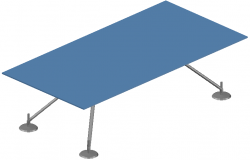 3d rectangular table dwg file