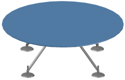 3d round table dwg file