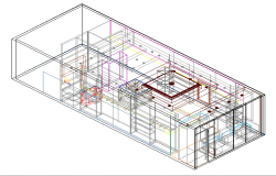 3d top view design of department store dwg file