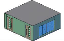 3d top view design office cabin details dwg file