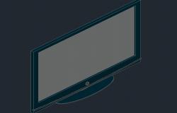 3d view of a plasma tv