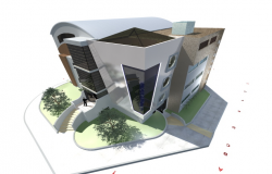 3d view of high rise building skp file