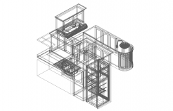 3d view of kitchen dwg file