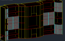 3d view of shelves