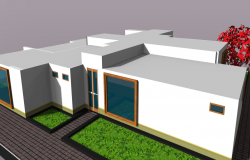 3d view of spa and salon shop skp file