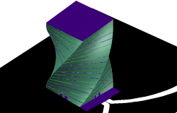 3d view of twist building dwg file