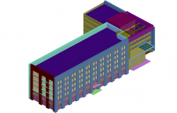 3d view residential flat dwg file