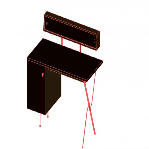 3d model layout of table detail furniture unit autocad file
