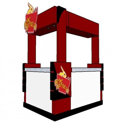 3d model of restaurant furniture blocks detail sketch-up file