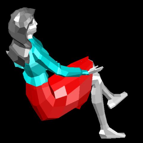 3d Seating women cad block design dwg file
