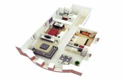 3rooms apartment