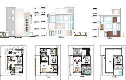 4  Bedroom House Design dwg file