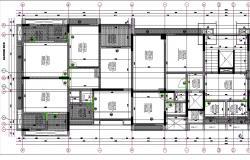 4 BHK Architecture Apartment Layout Plan AutoCAD File