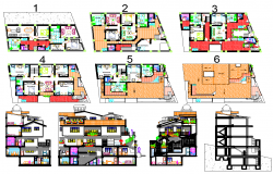 4 Level Residence plan dwg file