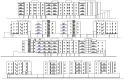 4 Storey Apartment Building Elevation Design DWG File