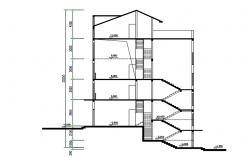 4 Storey Apartment Section Drawing