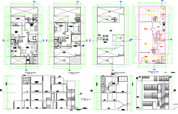 4 Story House Plan dwg file