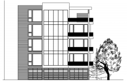 4 storey Apartment building design in autocad