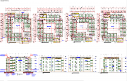 4 storey hotel architecture drawing and detail