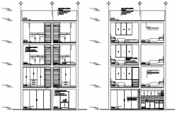 4 storey residential apartment in dwg file