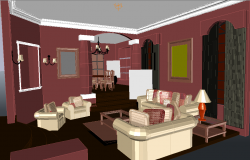 3d Drawing Room
