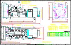 Generator machine drawing