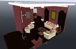 3D Drawing Room Project