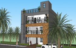Two storey residence building