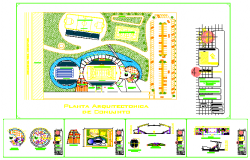 Youth Sports and Recreation Center auto cad drawing