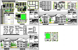 5 storey building design drawing