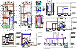50'X25' House architecture plan working drawing & detail in cad drawing