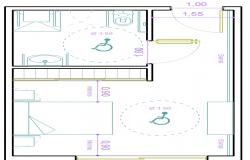 Bed room plan design