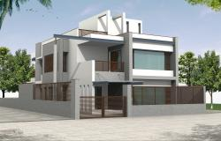 Bungalow Elevation and 3D Model  By Chinmay Joshi